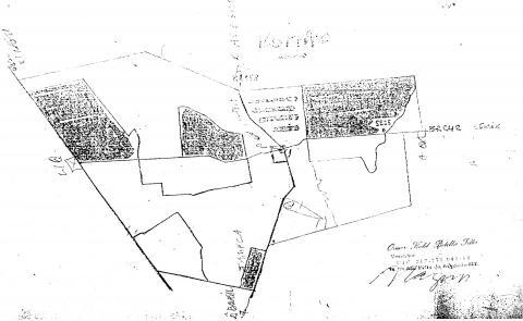 Mapa da Fazenda Suiá-Missu produzido para a reunião de organização dos posseiros contra a desintrusão de Marãiwatsédé.