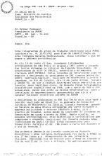 Fac-símile de parte da carta de junho de 1992