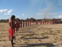 Xavante reúnem-se em aldeia na TI Maraiwatsede | Arquivo Opan