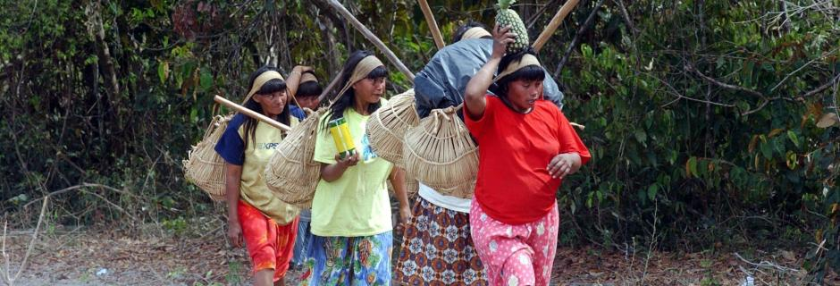 Mulheres trabalham na reconstrução da TI Marãiwatsédé / Wilson Dias/Abr